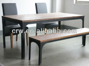 Dt-4014 Stainless Steel Dining Table Designs Made in Vietnam pictures & photos