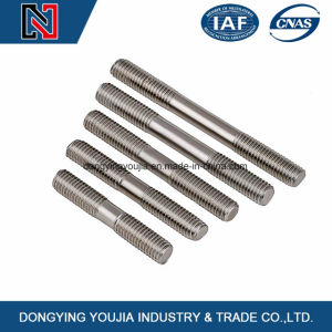 Stainless Steel Glass Stud Double End Studs for Pipe Flange Connection pictures & photos