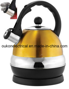 1.7-Liter Stainless Steel Cordless Electric Kettle in Gold