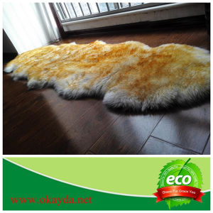 Australian Sheepskin Double Rug with Customized Dyed Snow Tip Color for Home Decoration