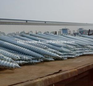 Hot Dipped Solar Mounting Helical Screw Piles pictures & photos