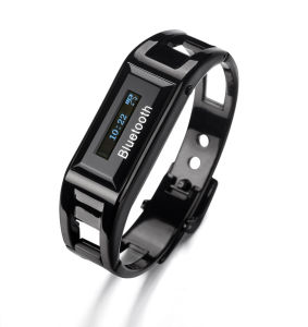 Stainless Steel Microphone Bracelet with Bluetooth Speaker (MS009Y-BW10)