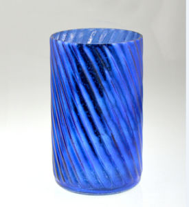 High Cylindrical Blue Candle Holder pictures & photos