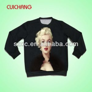 Wholesale Polyester Heat Transfer Printing Custom Design New Design Sweatshirt Wy-002