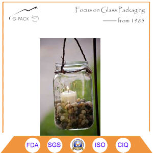 Clear Glass Mason Jars with Handle for Oil Lamp Purpose pictures & photos