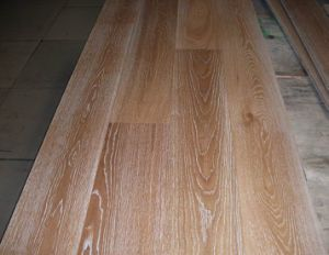1900X190X15 (4mm) Brushed White Grain UV Lacquereed Oak Engineered Wood Flooring (JS-OAK 190MM)