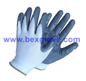 13 Gauge Polyester Nitrile Working Glove pictures & photos