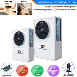 Save 70% Power Cop3.62 2.5kw 150L, 3.5kw 200L 220V Max 60c Hot Water Dhw All in One Heat Pump Water Heater pictures & photos