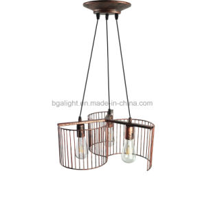 Sensational Bronze Color Three Heads Metal Cage Hanging Light Fixtures For Kitchen For Living Room Best Image Libraries Thycampuscom