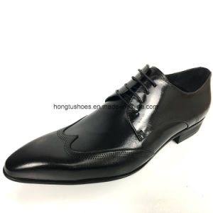 China 2018 Latest Style Quality Leather Luxury Brand Man Laceup