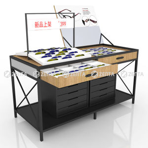 Retail Modern Sunglasses Display Rack With Drawers For Optical Shop