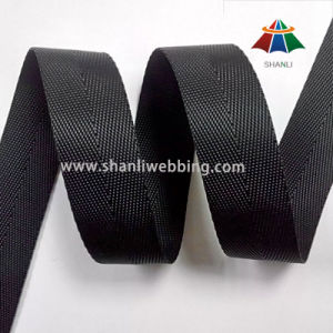 22mm Black Nylon Tape Webbing, Hurringbone Nylon Webbing Tape pictures & photos
