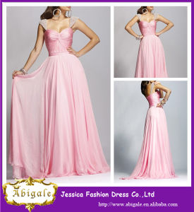 Custom Made Elegant Colorful A Line Crystal Bodice Long Cheap Evening Dress (YC054)