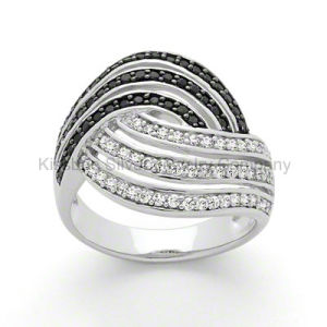 Unique Custome 925 Jewelry Ring Black Plated Jewellery (KR3045) pictures & photos