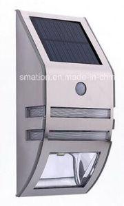 PIR Outside LED Lamp Metal Gate Infrared Sensor Solar Wall Light