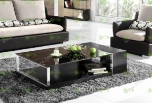 (SJ-112) Black Tempered Glass Coffee Table
