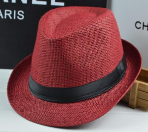 Fashion Straw Paper Basic Fedora Tribly Hat pictures & photos