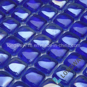 Iridescent Blue Rain Drop Glass Mosaic (L2IRD004)