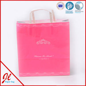 Small Pink Cute Paper Ping Bags Promotional With Logo Printing