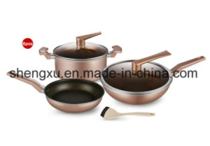 Handle Coated Aluminium Non-Stick Frying Pan for Cookware Sets Sx-A002