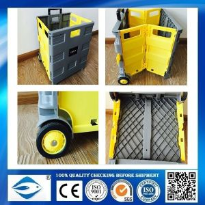 Plastic Special Design Folding Shopping Cart pictures & photos