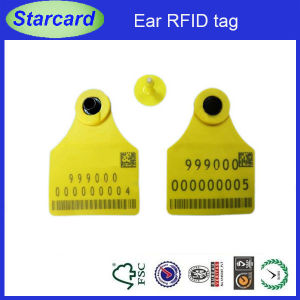 UHF RFID Animal Ear Tag Electronic Cattle Ear Tags