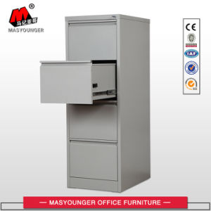 Commercial Office Use Steel Vertical 4 Drawer File Cabinet pictures & photos