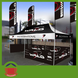 Outdoor Exhibition Cheap Custom Printed Canopy Tent with Advertising Flag pictures & photos