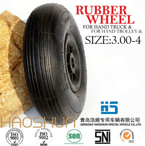 Hand Truck Tyre Trolley Tyre Pneumatic Rubber Wheel 3.00-4 pictures & photos