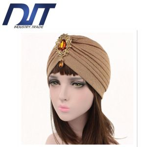 Popular Thread Thickening Lady Muslim Scarf with Alloy Pendant Accessories