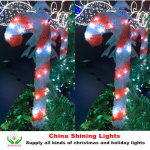 Christmas Holiday Decoration LED Acrylic Candy Cane Lights
