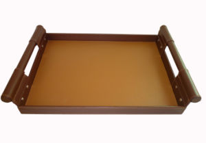 PU Leather Amenity Leather Tray, Service Tray, Coffee Tray (PB169)