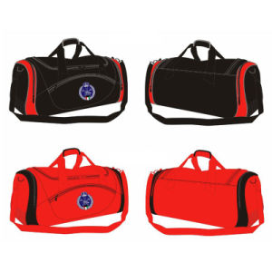 Custom Red Black Gym Sports Travel Training Medium Duffle Bag for Basketball Football Players pictures & photos