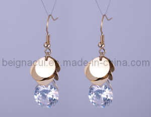 Latest Fashion Desige with CZ Stones Earrings