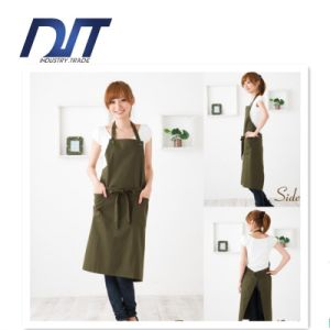 Good Quality Stripe Canvas Disposable Cotton Cooking Apron Custom Logo