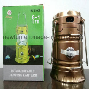 Solar and Rechargeable Camping Lantern Tent Light pictures & photos