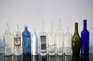 China Wholesale Screen Printing Frosted Glass Liquor Bottles pictures & photos