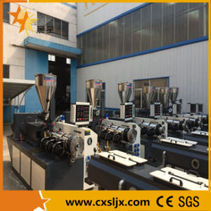 Conical Twin-Screw Extruder for PVC Granulating, Pipe and Profile Making pictures & photos