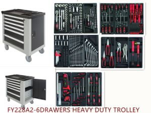 6drawers Professional Heavy Duty Mobile Trolley Tool Set
