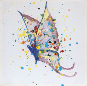 Handmade Home Goods Butterfly Animal Wall Art Canvas Oil Painting