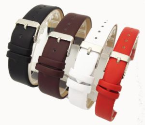 c7855cf91 4 Fashion Color 12mm 14mm 16mm 18mm 20mm Smooth Grain Genuine Leather Cow  Split Watch Band