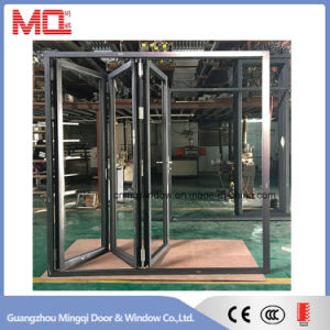 Heat Insulated Aluminum Door Double Glazed Lowe Glass Folding Door Style