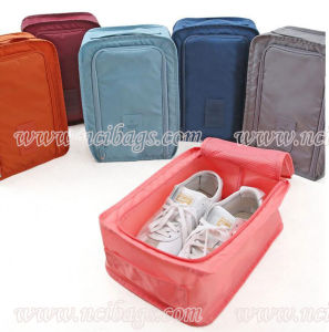2017 Promotional Custom Polyester Storage Packing Shoe Bag