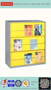 Steel Storage Office Furniture with 2 Layers Magazine Cabinet/File Cabinet