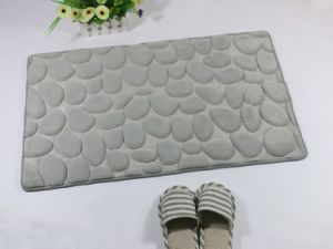 Cobblestone Shape Coral/Flannel Sponge Floor Mat 4511 pictures & photos