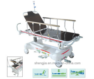 Sjm009 Luxurious Hydraulic Rise-and-Fall Stretcher Cart