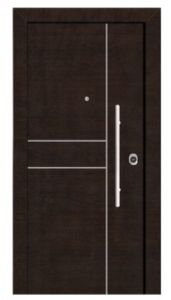 Turkey Style Steel Wood Armored Door Simplified Door pictures & photos