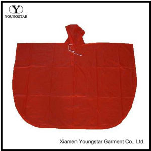 Practical Red Color PVC Rain Poncho for Adult or Children pictures & photos
