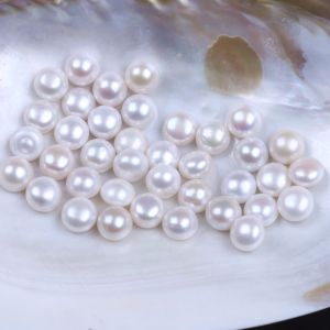 Half-Drilled Grade Button Loose Beads Pearl pictures & photos