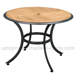Plywood Outdoor Restaurant Round Table with Aluminum Base (SP-AT321) pictures & photos